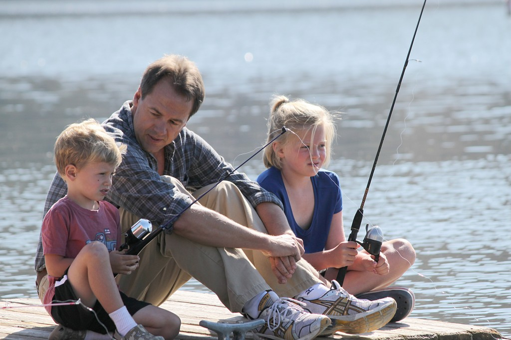 Bullock family fishing