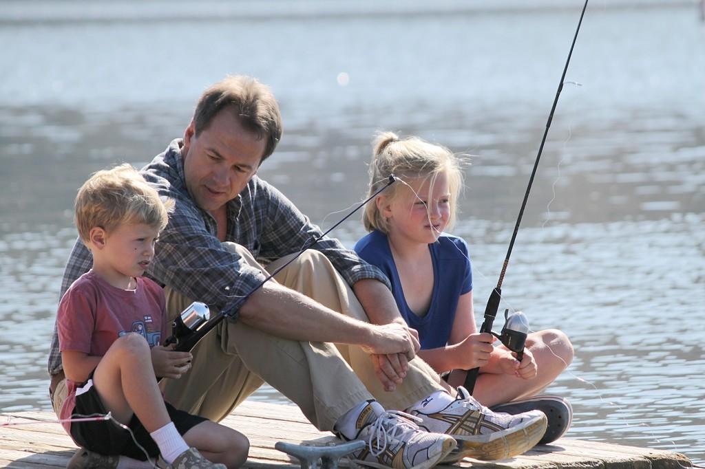 Bullock family fishing