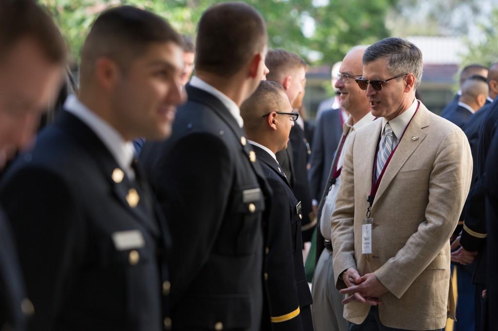 David Mgrublian at ROTC ceremony