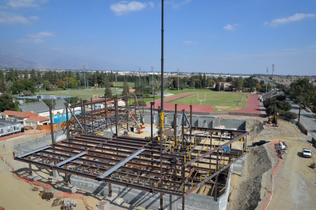 Work is continuing on Roberts Pavilion fitness and events center.