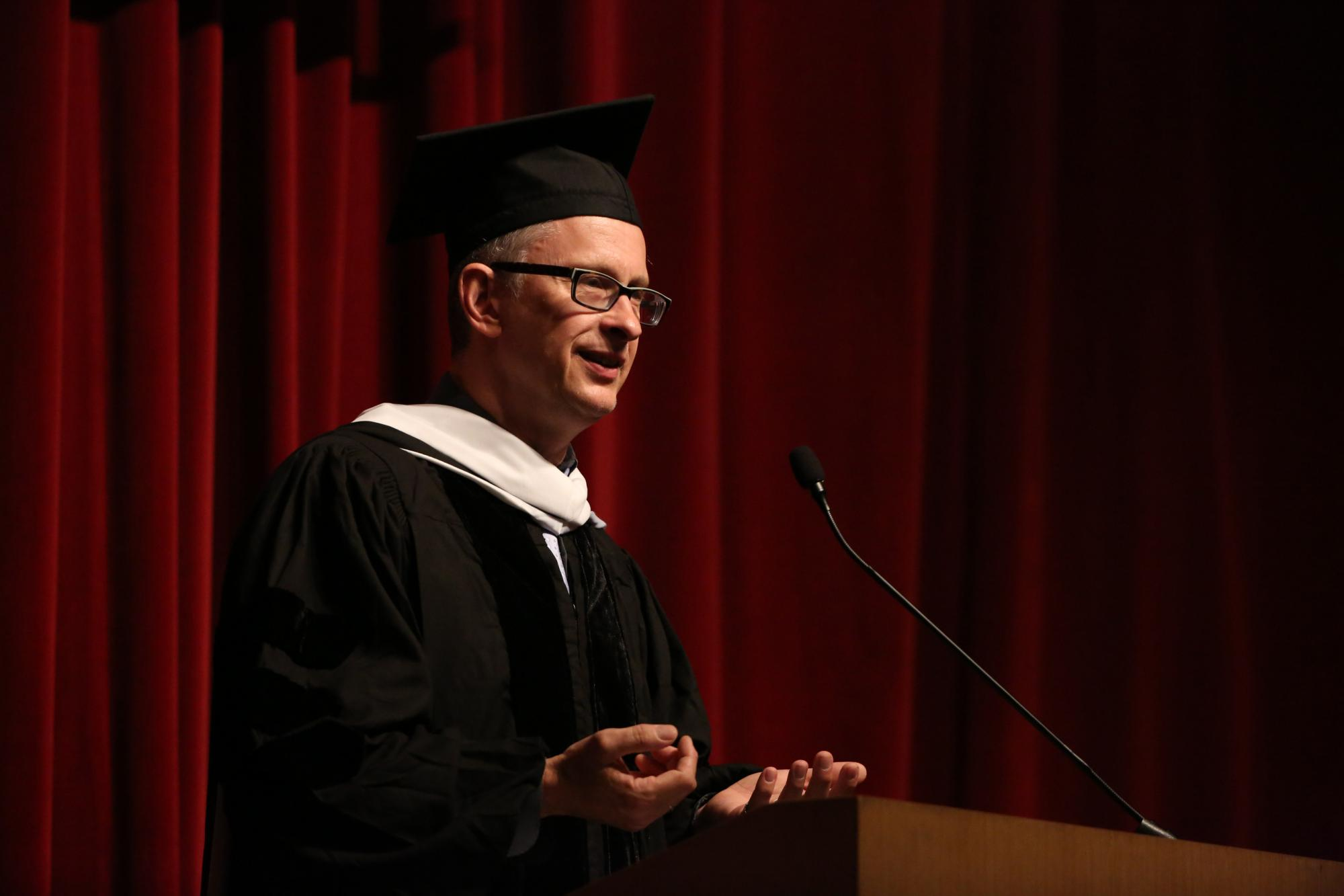 Dean Peter Uvin during the 2015 Convocation