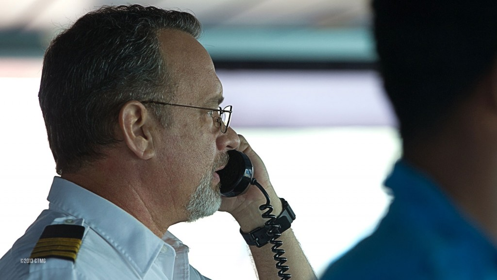"""(Sony Pictures) Tom Hanks in director Paul Greengrass's """"Captain Phillips,"""" which recalls the 2009 real-life hijacking of a U.S. container ship by Somali pirates. Anti-piracy is a topic anchoring a forthcoming book by John Clark Levin '12 and profess"""