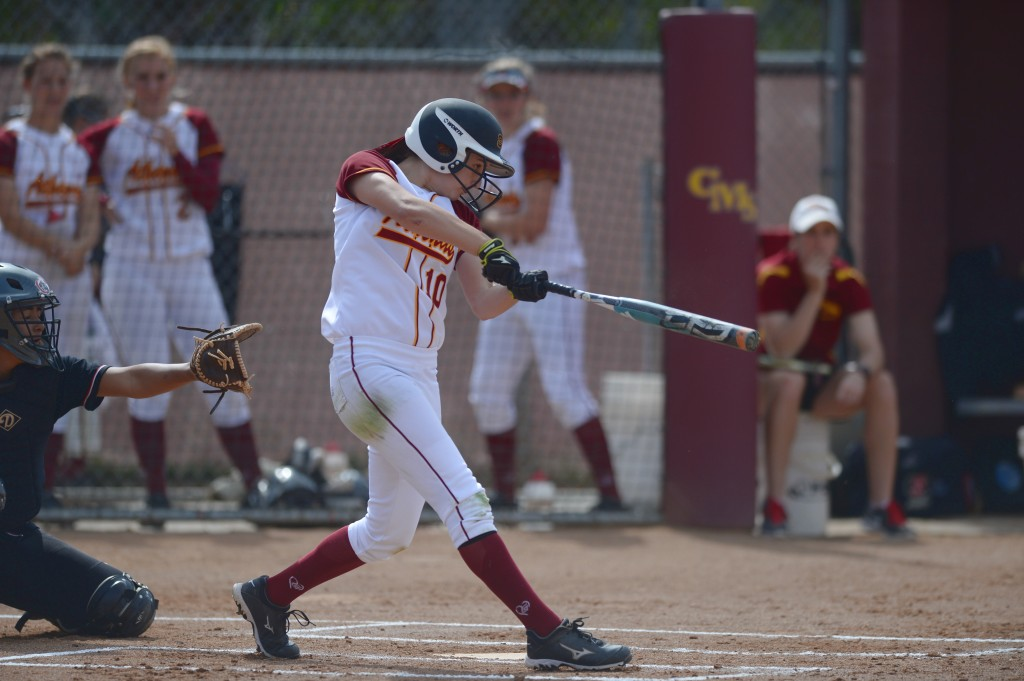 Heydenberk playing softball