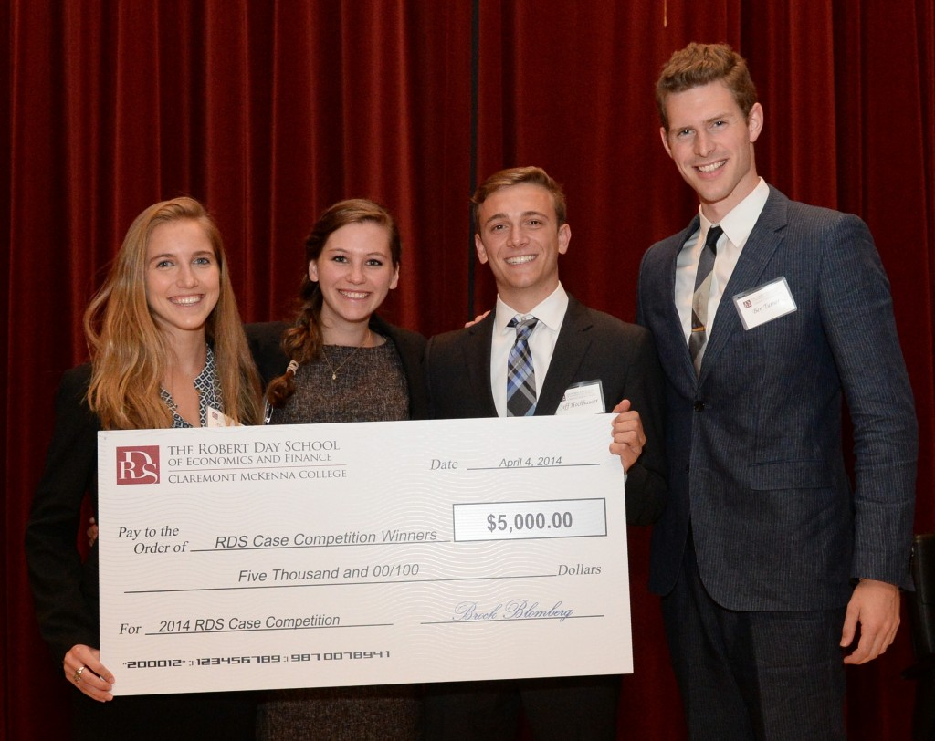 Robert Day Scholars case competition winners