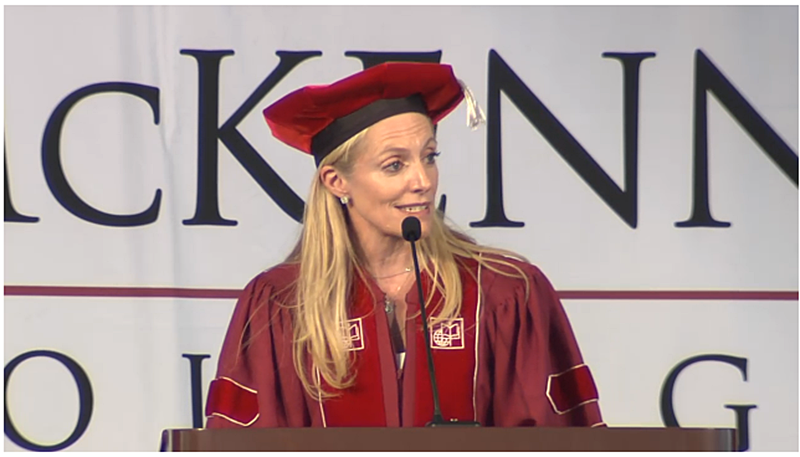 Dr. Lael Brainard gives the Commencement Address.