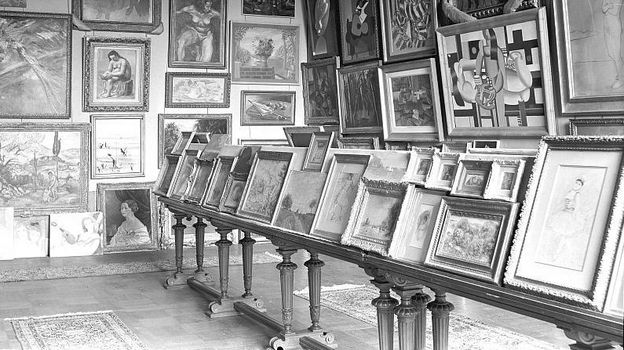 Art stolen from the Jeu de Paume museum in Paris by the Nazis during World War II. (Photo courtesy of Archives des Musees Nationaux a Paris.)