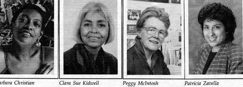 Barbara Christian, Clara Sue Kidwell, Peggy Mcintosh, and Patricia Zavella