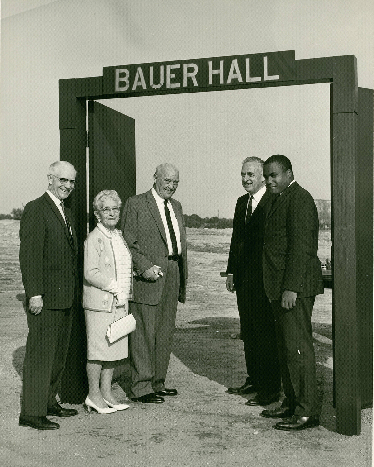 Donors at Bauer Hall groundbreaking