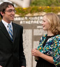 Athenaeum speakers, Pyper Scharer '13 and Jeremy Merrill '12
