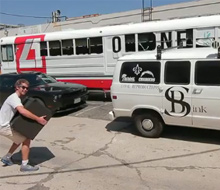 Chris Temple and Zach Ingrasci's Renovated School Bus for tour around the states