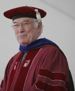 The Nobel laureate, in his CMC regalia, at Commencement 2006
