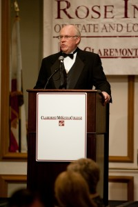 Dave Huntoon, at a recent Rose Institute dinner event