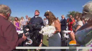 Nieto walks Lindsay down the aisle, as seen on this morning's (July 6, 2014) Today Show.
