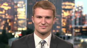 Lucas Agnew '15 on MSNBC, April  6.