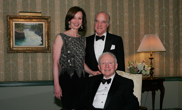 The Kravises with Landesa's founder Roy Prosterman, first Kravis Prize recipient, in 2006