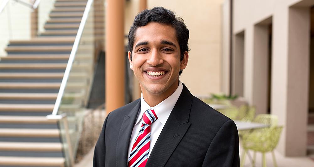 Syed Umar Farooq was awarded a 2016 Truman Scholarship