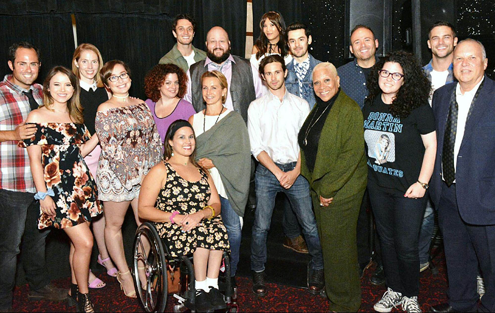 """The cast and crew of the """"Donna Martin Graduates"""" live read."""