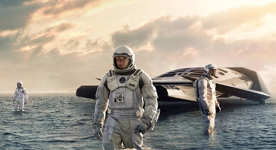"poster for Christopher Nolan's 2014 film, ""Interstellar"""