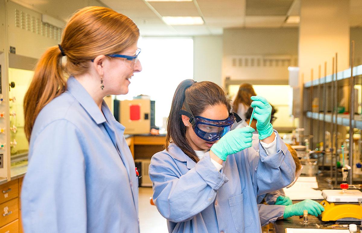 Prof. Anna Wenzel in the lab