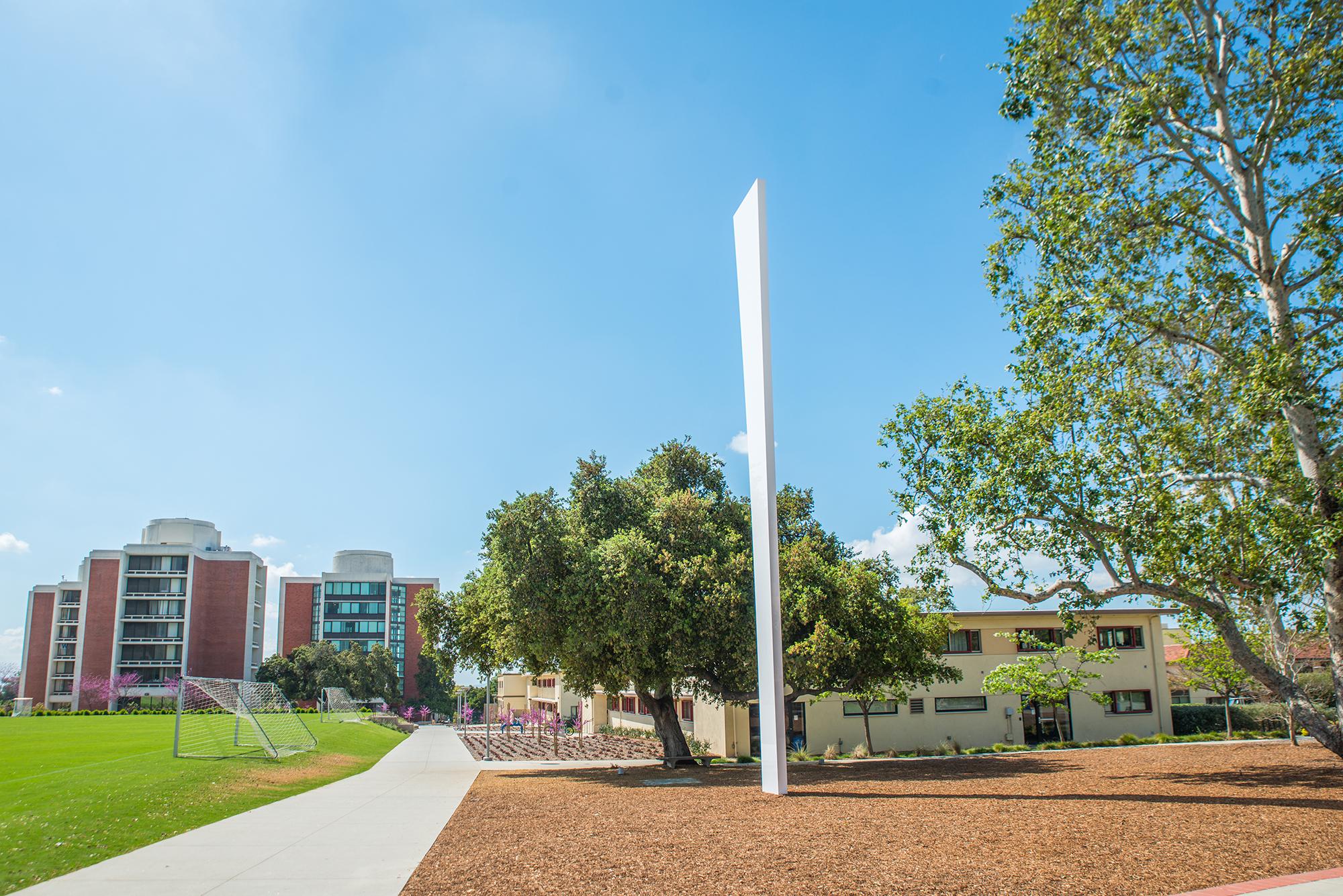 Installation on Campus of Ellsworth Kelly Totem