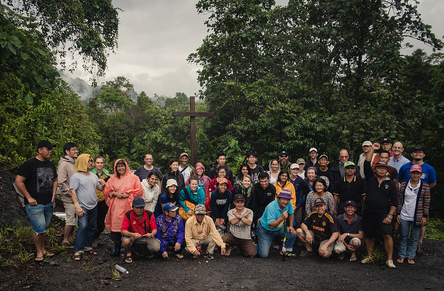 The team in Borneo, Malaysia