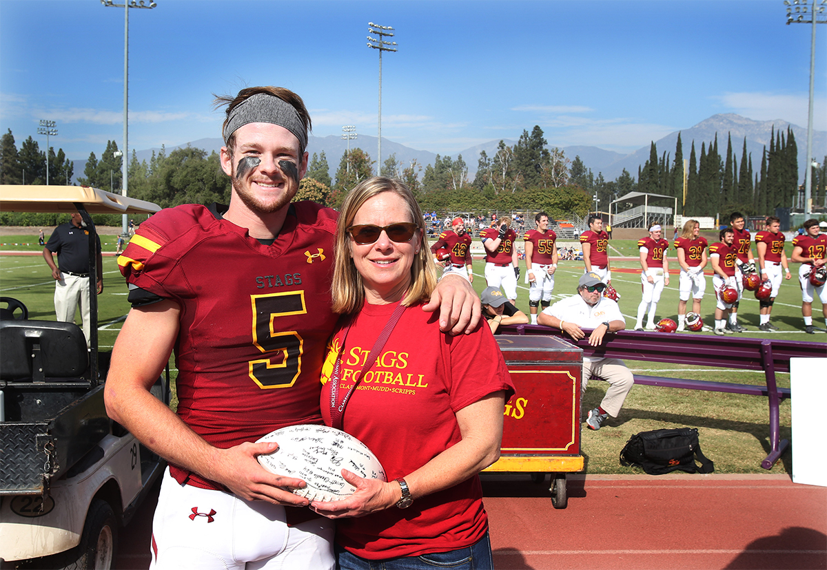 Robby Weissenfels and his mother