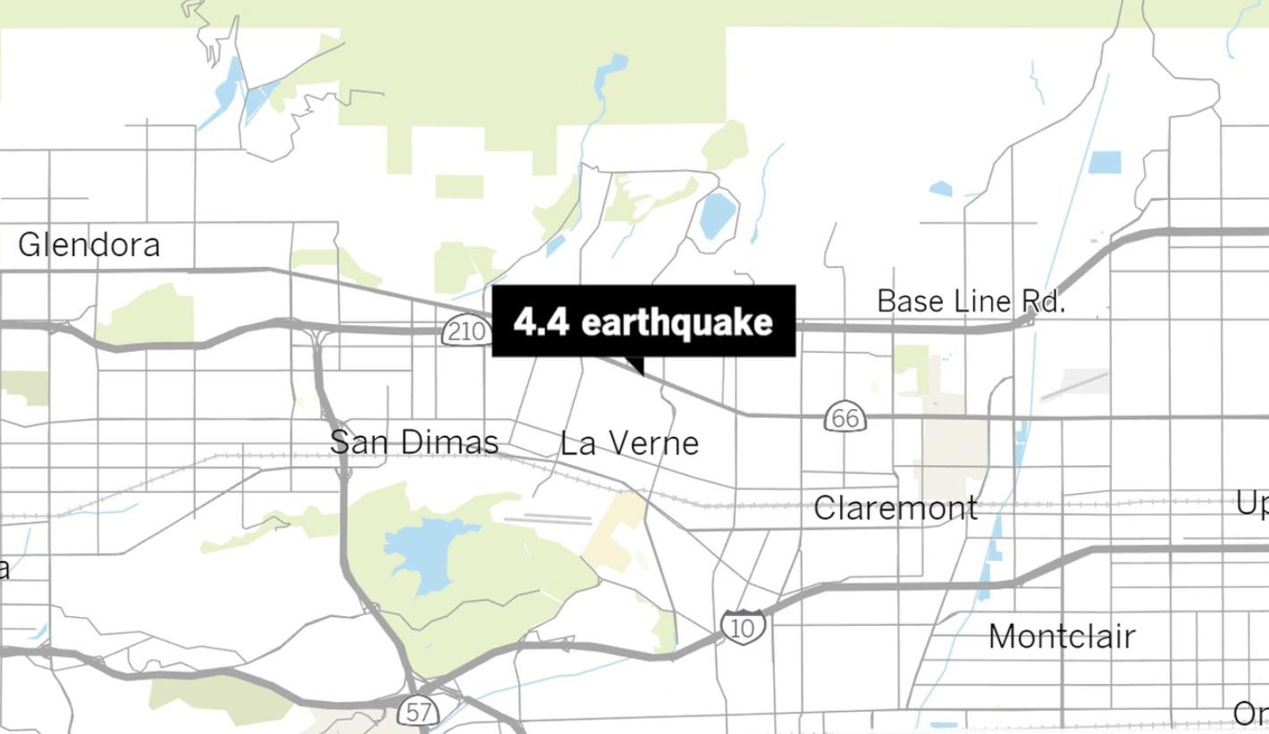 Earthquake Update 4 4 Quake Centered In La Verne No Damage Or