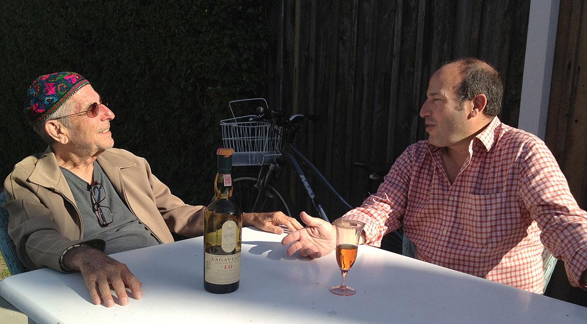 Leonard Cohen and Bob Faggen