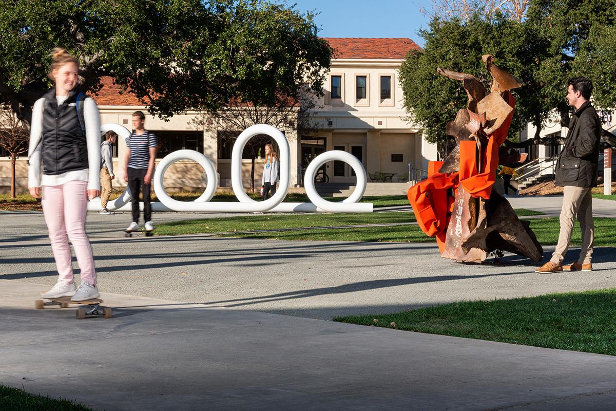 Carol Bove sculpture installation at CMC
