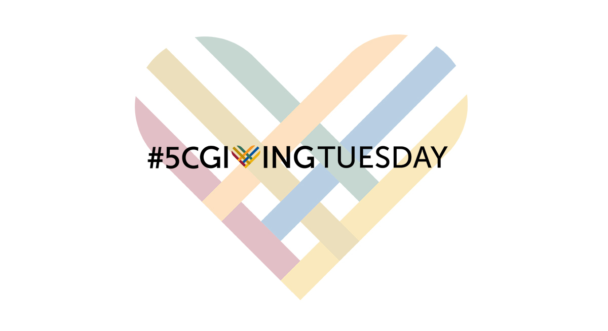 5C Giving Tuesday Logo - multicolored striped heart