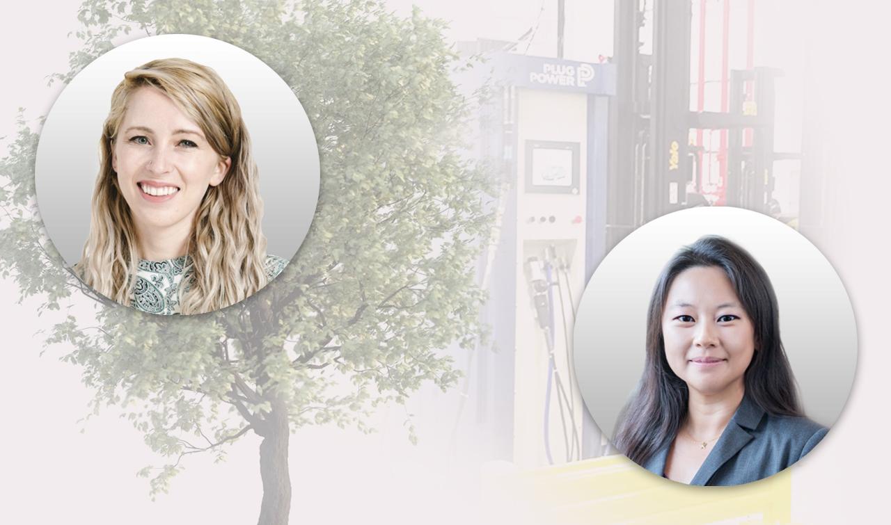 Photo collage of Maddie Hall '14 and Lydia (Yancan) Li '13