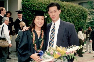 Young Erik Chan '92 and Emily Cotter '95