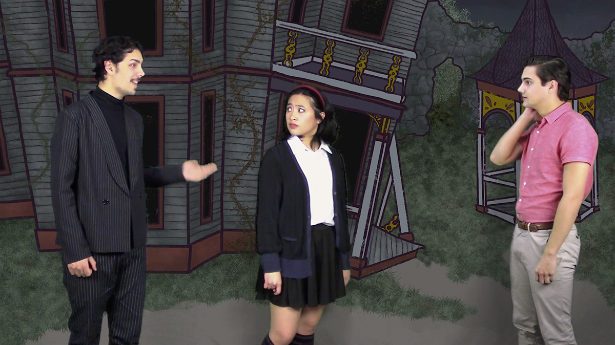 """Still from """"The Addams Family Musical,"""" a 5Cs theater collaboration"""