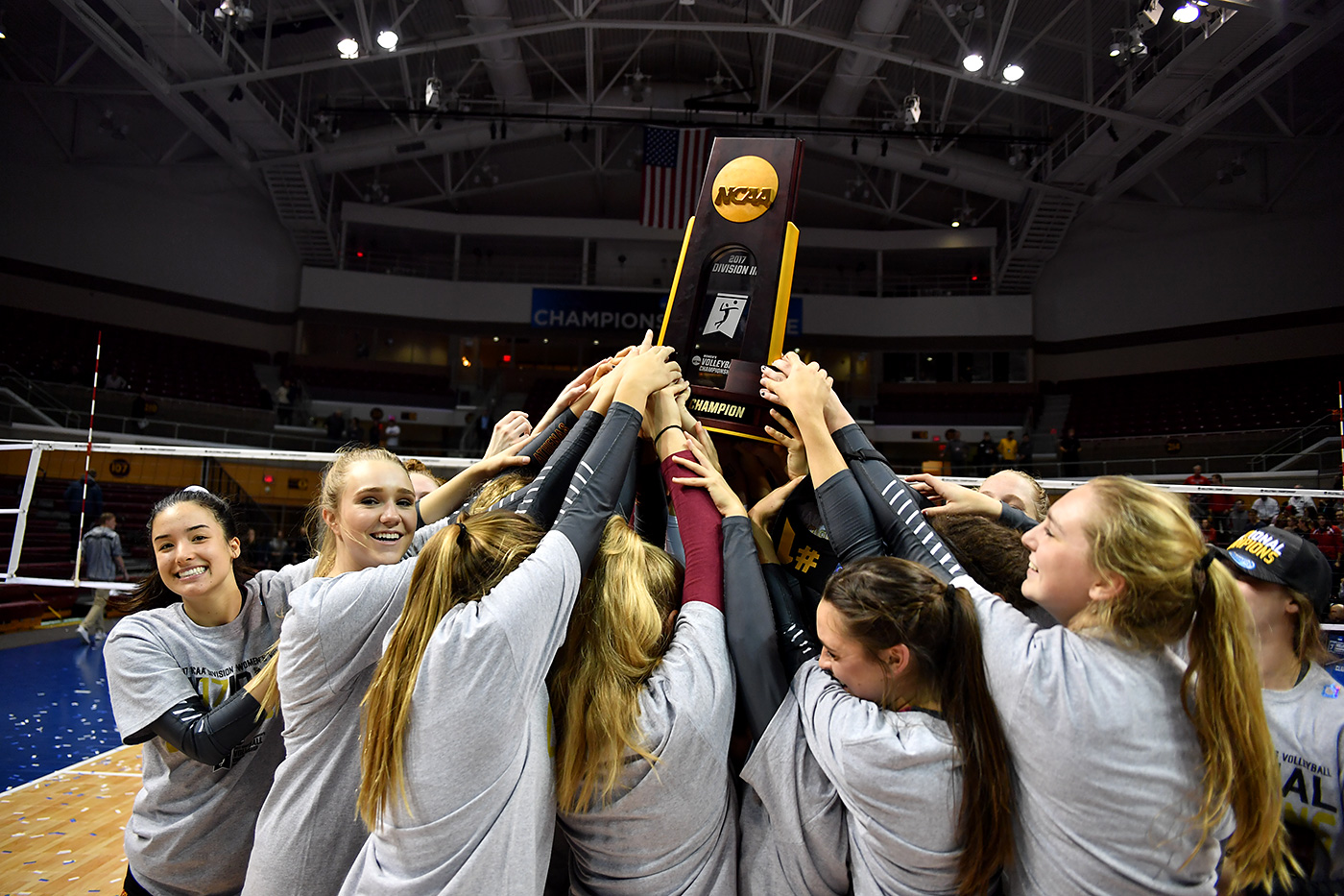Athenas raise championship trophy