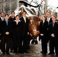 Students with Bull