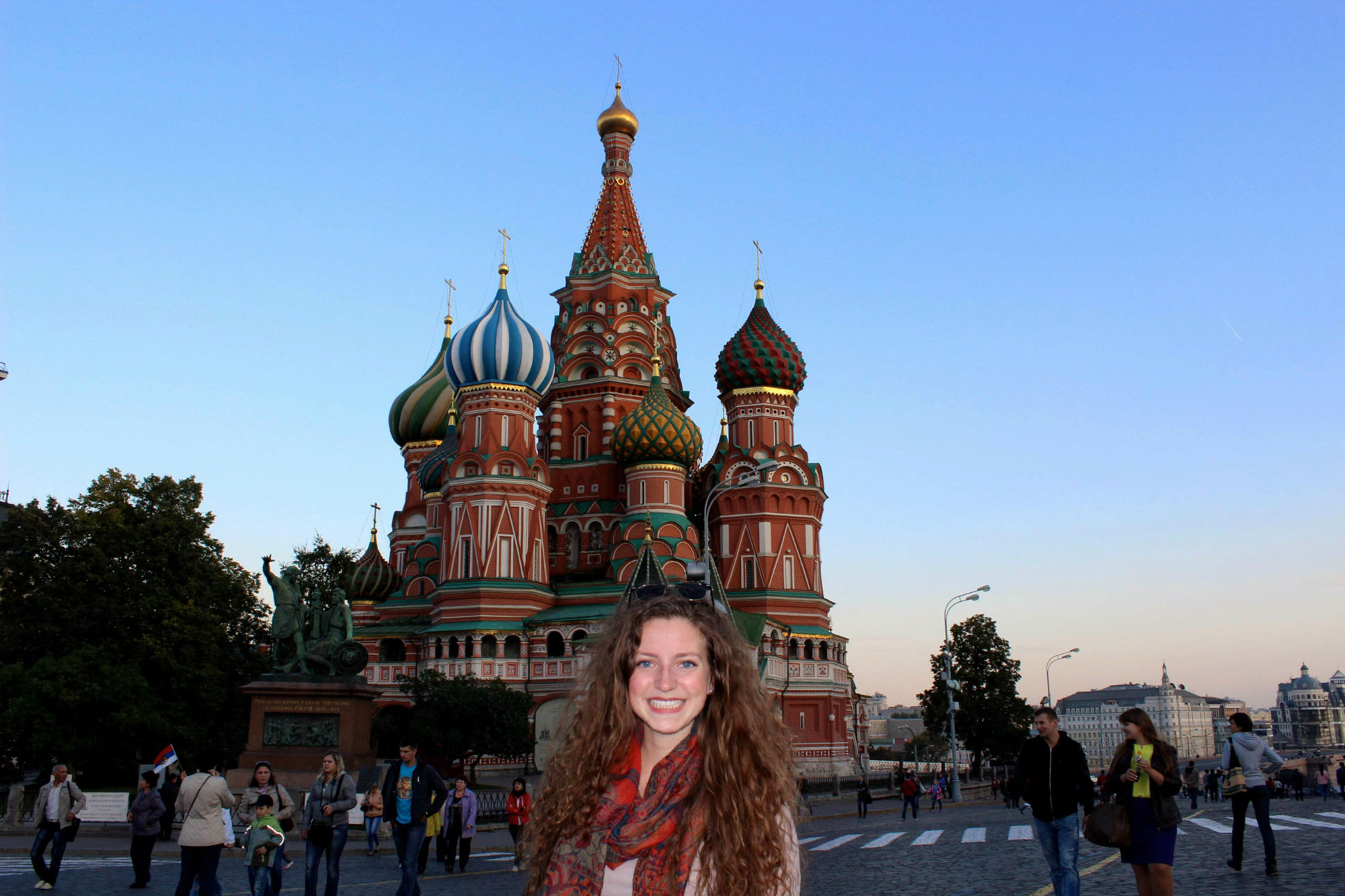 Alexandra in Red Square