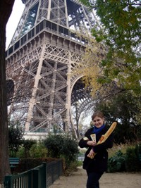 girl with Eiffel Tower
