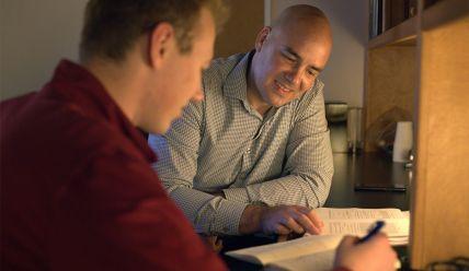 Ben Gillen with a CMC student