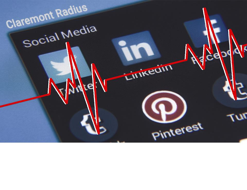 A graphic of social media