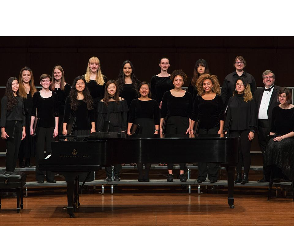 Group photo of Claremont Treble Singers