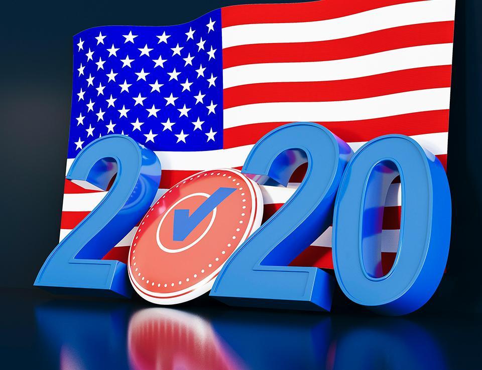"""Image of flag and 2020 voting; photo credit: <a href=""""https://www.freepik.com/photos/flag"""">Flag photo created by freepik - www.freepik.com</a>"""