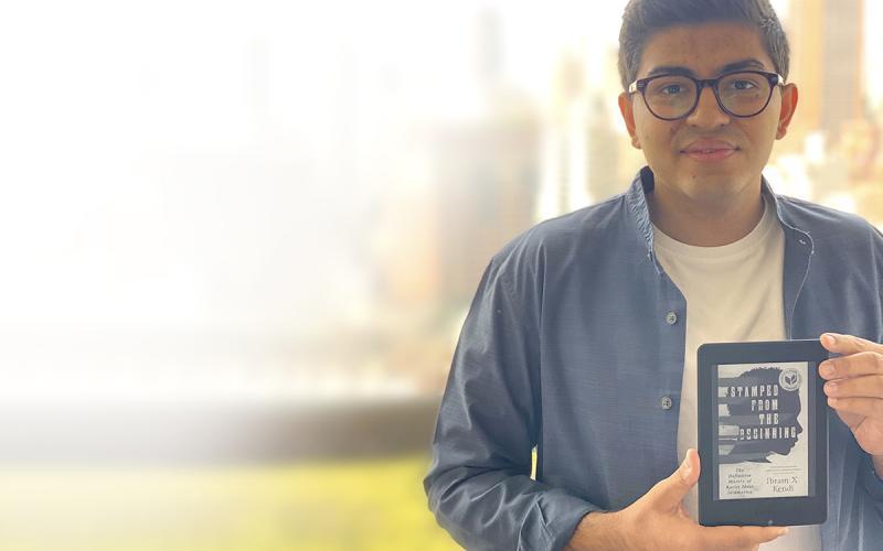 Sahib Bhasin '21 with Kindle