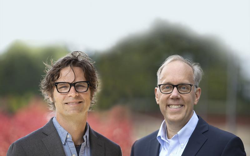 Professors David Bjerk and Eric Helland