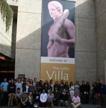 Claremont students at Getty Villa