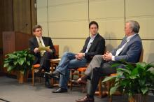 Hiram Chodosh speaking with Jared Cohen and Eric Schmidt