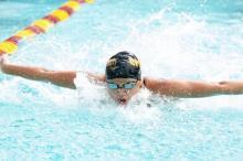 CMS student swimming
