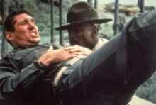 """Richard Gere as Zack Mayo, and Louis Gossett Jr. as Sgt. Emil Foley in """"An Officer and  a Gentleman."""" The movie was based on screenwriter Douglas Day Stewart's experiences as a naval officer."""