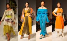 Looks from Tatiana Shabelnik's fall/winter runway show at Style Fashion Week in Los Angeles on March 10.