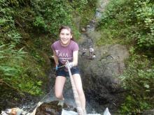 Tamar Kaplan climbing