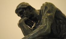 Image of The Thinker by Rodin